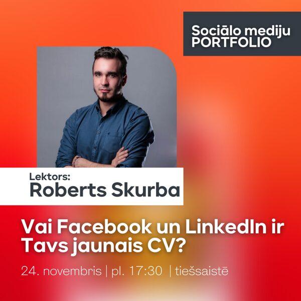 """Facebook & LinkedIn   Apmācību cikls """"Sociālo mediju PORTFOLIO"""""""